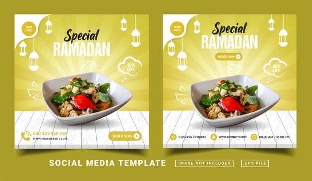 Special ramadan flyer or social media post Premium Vector
