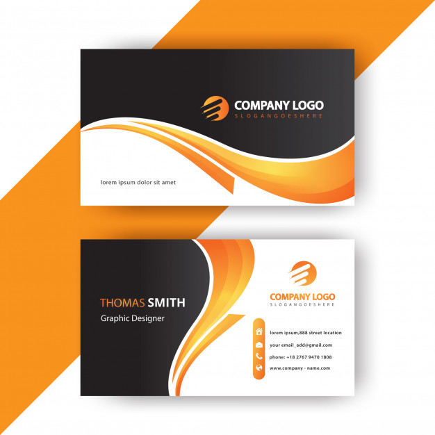 Stylish business card Free Vector