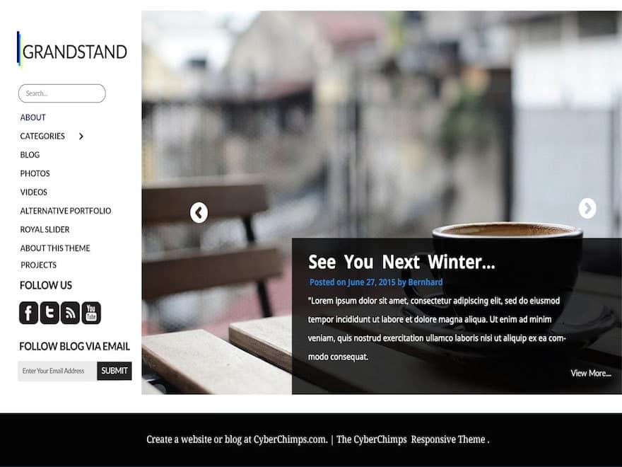 Theme WordPress Grandstand