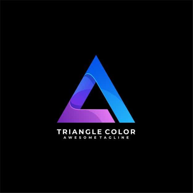 Triangle media logo Premium Vector