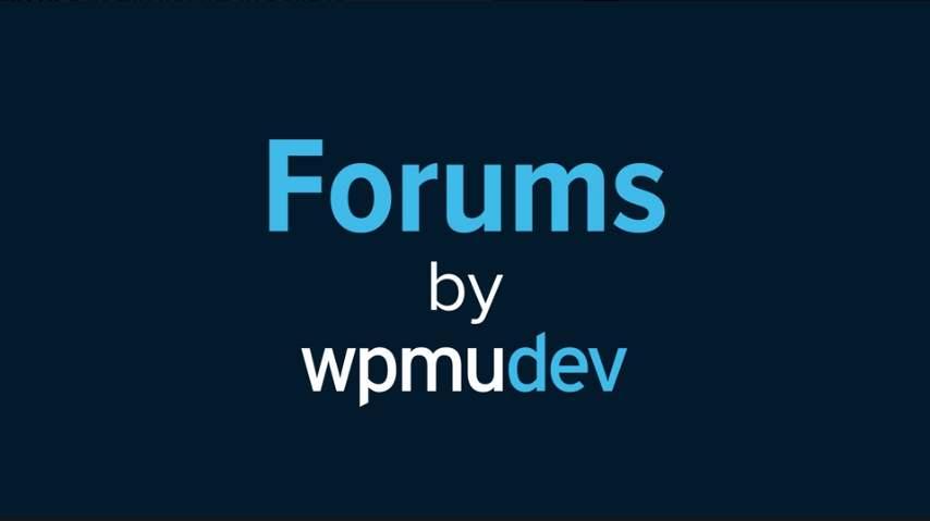 WPMU DEV Forums