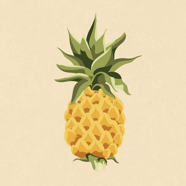 Yellow pineapple design element illustration Free Vector