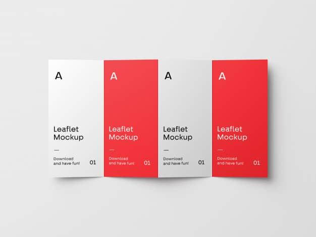 4-fold brochure mockup Premium Psd
