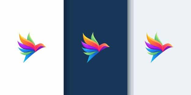 Beautiful bird gradient logos for design inspiration Premium Vector