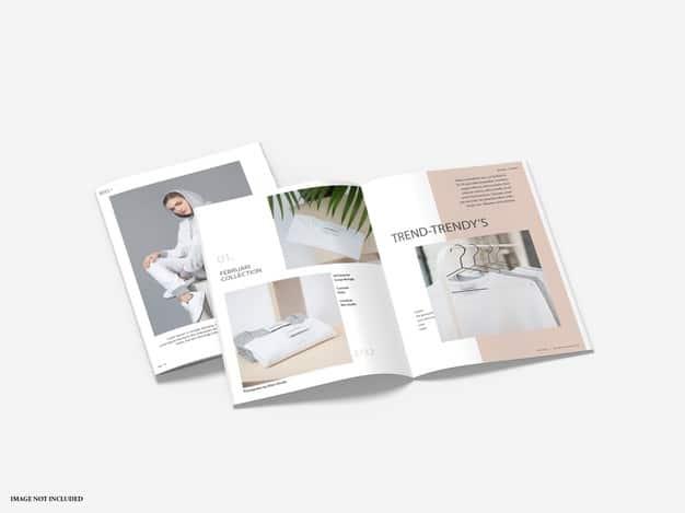 Brochure catalog mockups isolated Premium Psd
