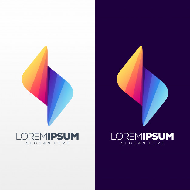 Colorful letter s logo design Premium Vector