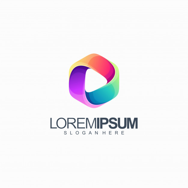 Colorful media logo design vector illustration Premium Vector