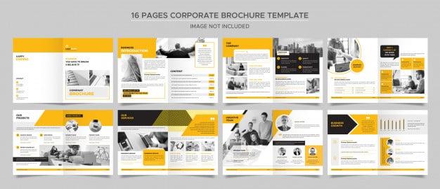 Corporate brochure template Premium Psd