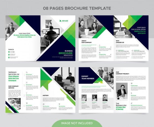 Corporate company brochure template Premium Psd