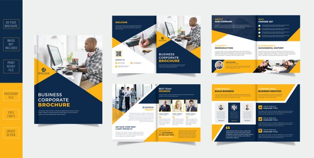 Corporate pages business brochure Premium Psd