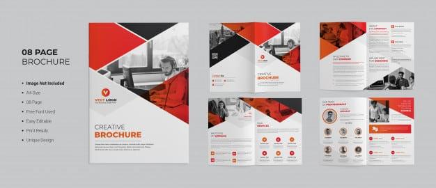 Creative brochure template Premium Psd