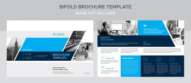 Creative corporate bifold brochure Premium Psd