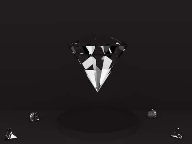 Diamond on the podium Premium Photo