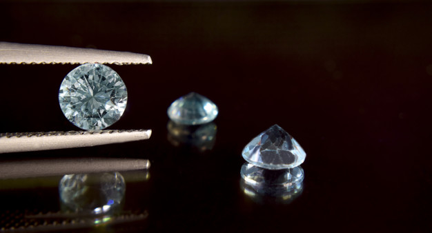 Diamonds are valuable, expensive and rare. for making jewelry Premium Photo