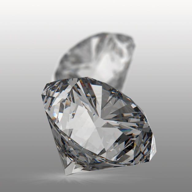 Diamonds isolated on white Premium Photo