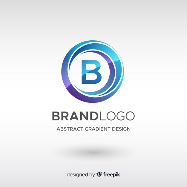 Gradient logo template with abstract shape Premium Vector