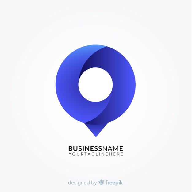 Gradient logo with abstract shape Premium Vector