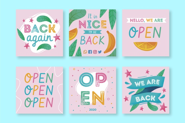 Instagram post collection Free Vector