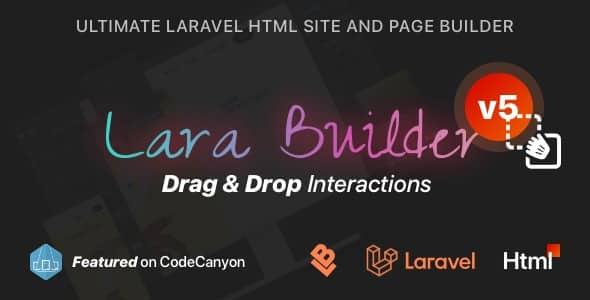 LaraBuilder-5.1.0-Laravel-DragDrop-SaaS-HTML-site-builder