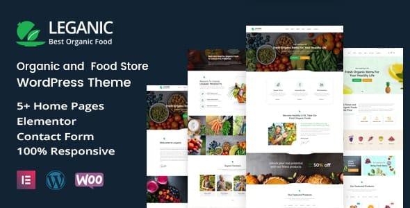 Leganic 1.2 – Organic and Food Store WordPress Theme