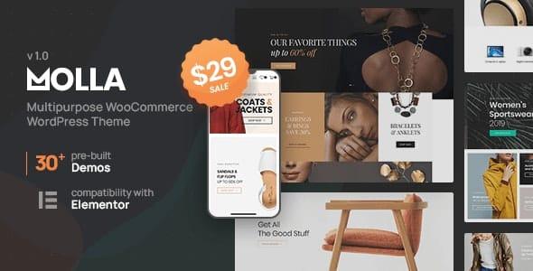 Molla 1.2.10 Nulled – Multi-Purpose WooCommerce Theme