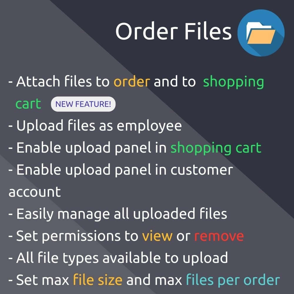 Order Files module upload and attach files to orders
