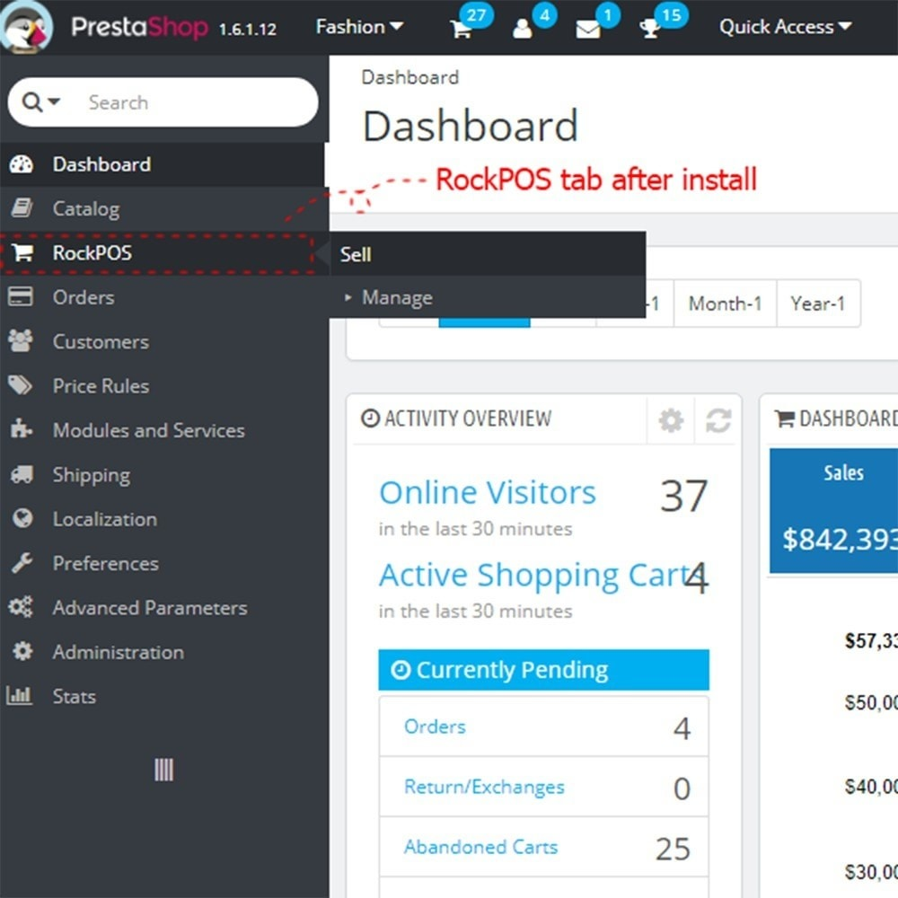 Rock POS - Point of Sale and Omnichannel Module