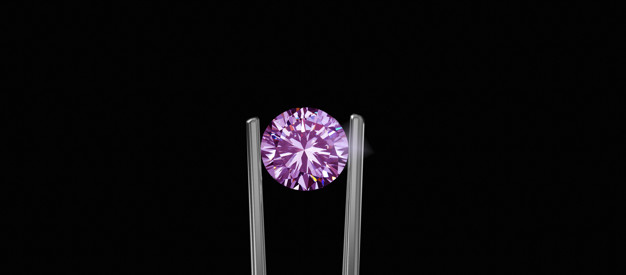 Selected pink diamonds shiny expensive and rare for jewelry making Premium Photo