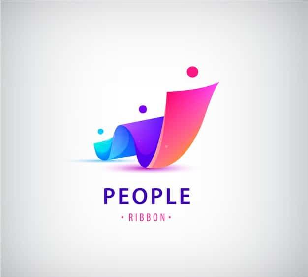 Set of human, people group logos Premium Vector