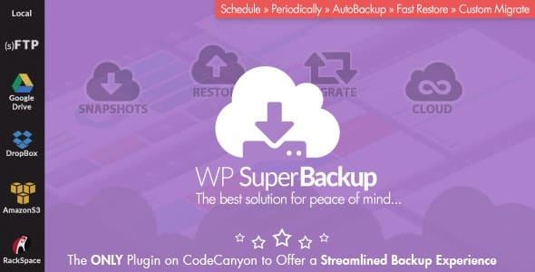 Super Backup & Clone 2.3 – Migrate for WordPress