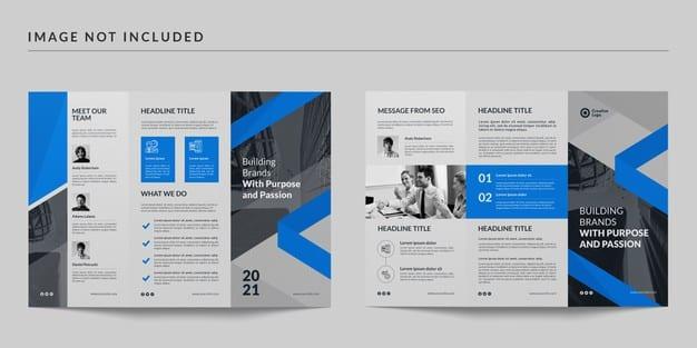 Trifold brochure template Premium Psd