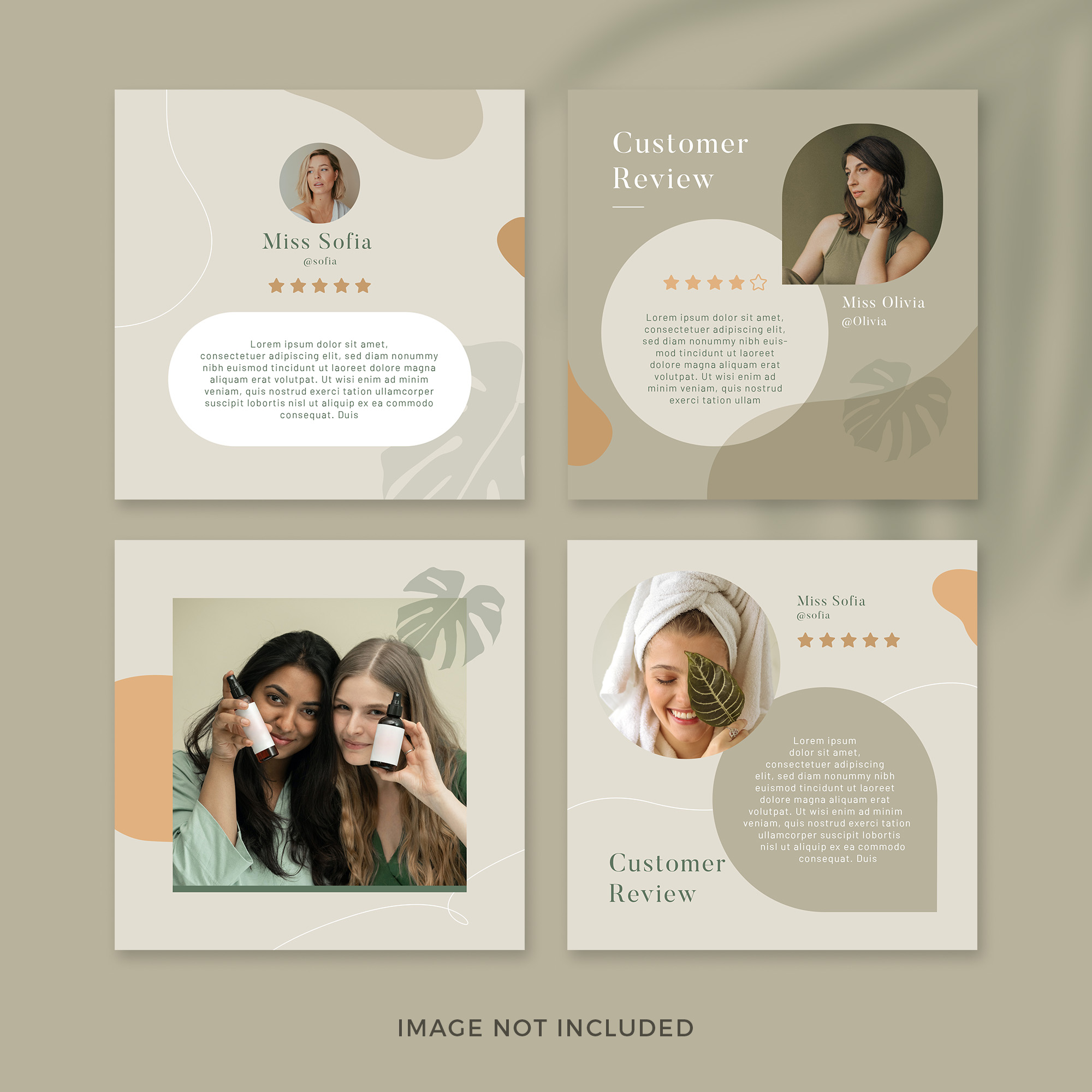 Skincare products instagram post set Free Psd