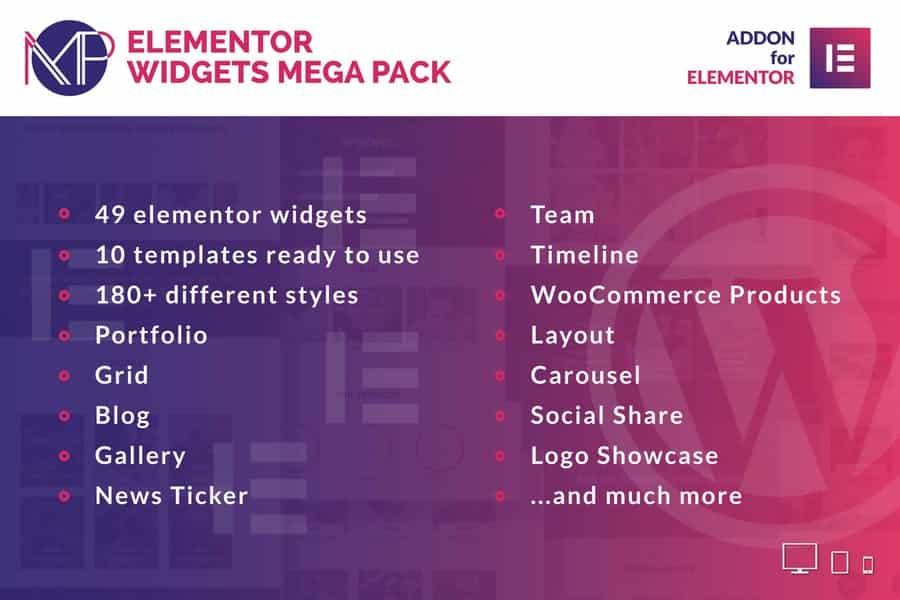 Envato – Elementor Widgets Mega Pack